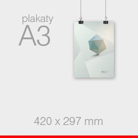 plakaty A3 - 297 x 420 mm