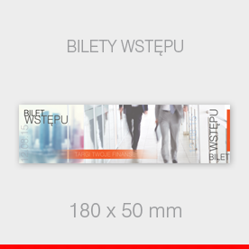 BILETY WSTĘPU 180 x 50 mm