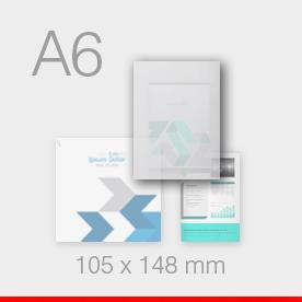 karty, zaproszenia - format A6 - 105 x 148 mm