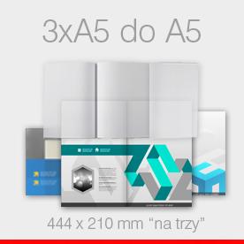 ulotki składane 3 x A5 do A5 Ekspres