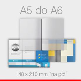 ulotki składane A5 do A6 Ekspres