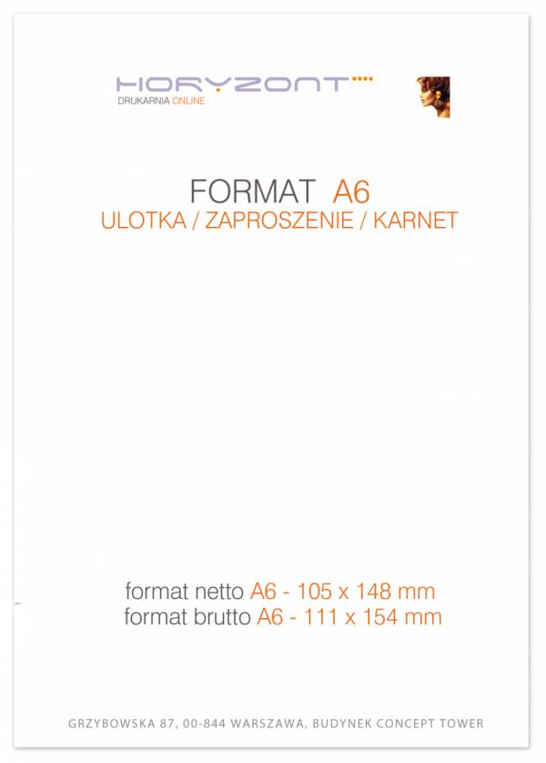 ulotka A6, druk pełnokolorowy obustronny 4+4, na papierze kredowym, 130 g, 1000 sztuk