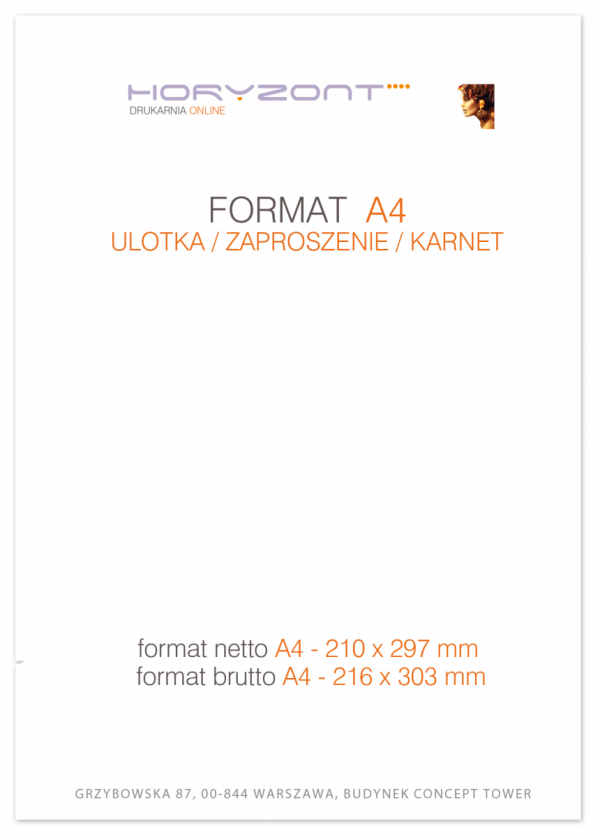ulotka A4, druk pełnokolorowy obustronny 4+4, na papierze kredowym, 170 g, 500 sztuk  ! NAJNIŻSZA CENA W WARSZAWIE / WYSYŁKA GRATIS