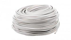 Przewód mieszkaniowy H03VV-F (OMY) 3x0,75 żo biały /100m/
