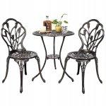 Meble ogrodowe żeliwne stół i krzesła
