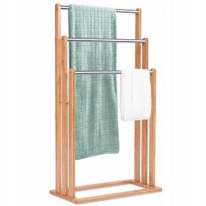 Wieszak łazienkowy na ręczniki bambusowy