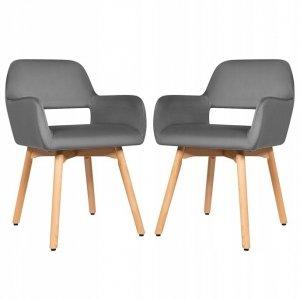 Krzesła tapicerowane do jadalni 2 szt.