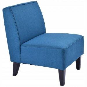 Fotel tapicerowany niebieski