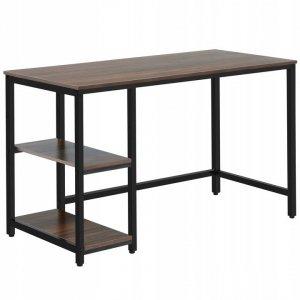 Biurko proste z regałem i półkami