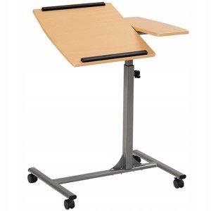Regulowane biurko stolik z kółkami na laptopa