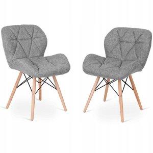 Tapicerowane krzesła w stylu skandynawskim 2 szt.