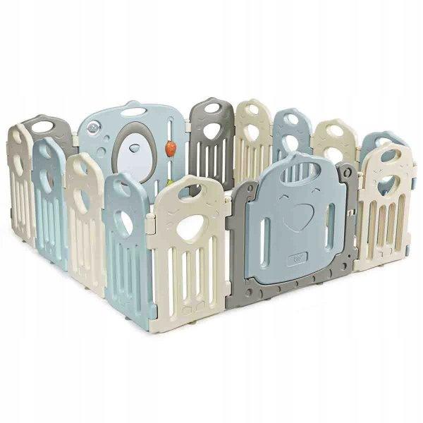 Składany kojec dla dzieci z bramką bezpieczeństwa