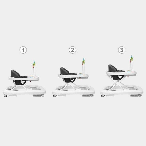Chodzik dziecięcy z regulacją wysokości grey