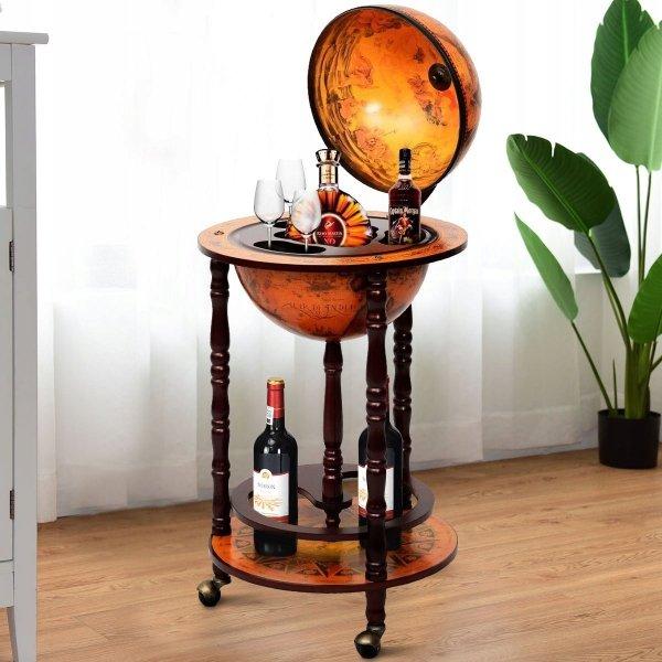 Barek globus na alkohol w stylu vintage