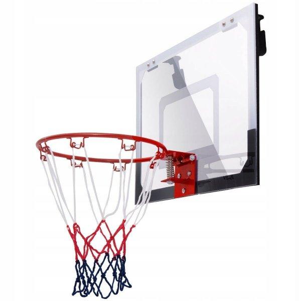 Zestaw do koszykówki tablica, obręcz, siatka, piłka i pompka
