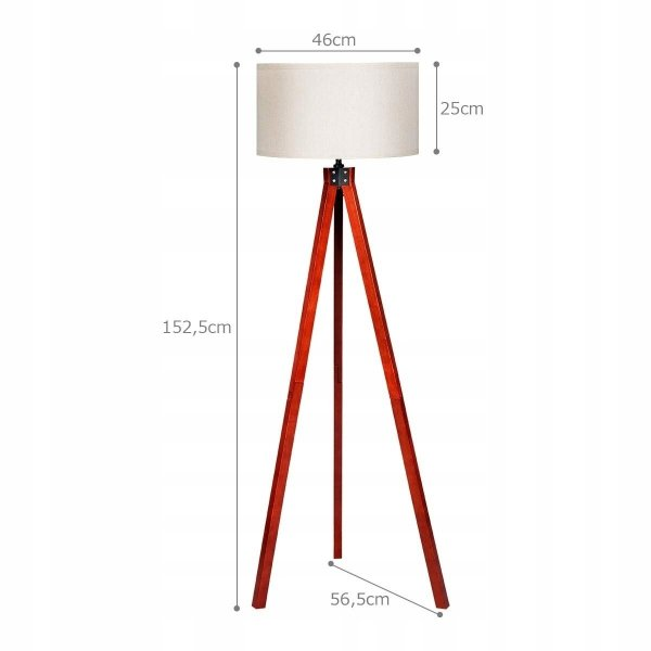 Lampa podłogowa stojąca - trójnóg