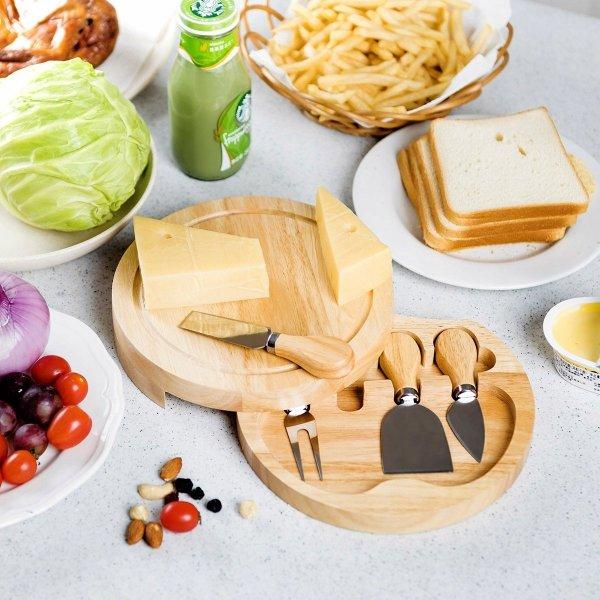 Deska i noże do degustacji serwowania serów zestaw