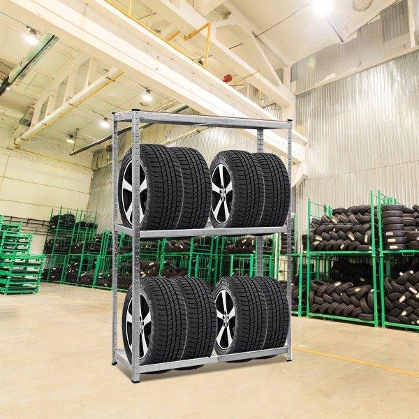 Metalowy regał stojak na 8 opon do 795 kg