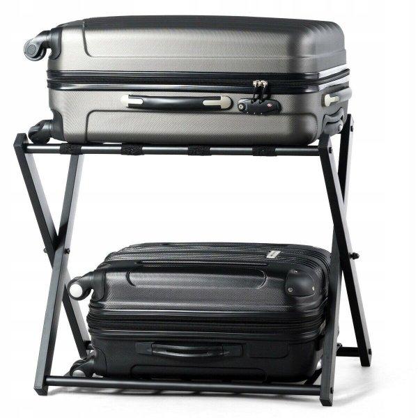 Składany stojak hotelowy na bagaż i walizki