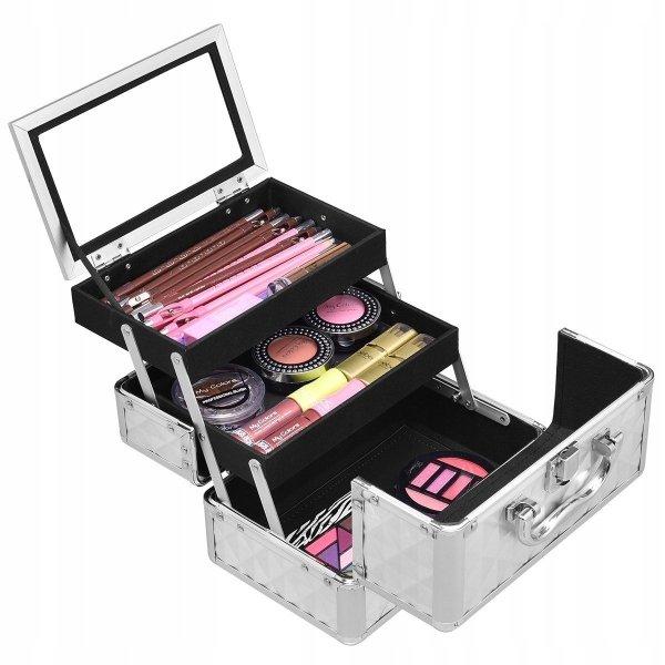Kuferek kosmetyczny z lustrem