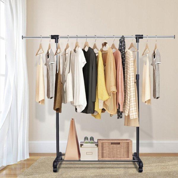Metalowy stojak wieszak na ubrania