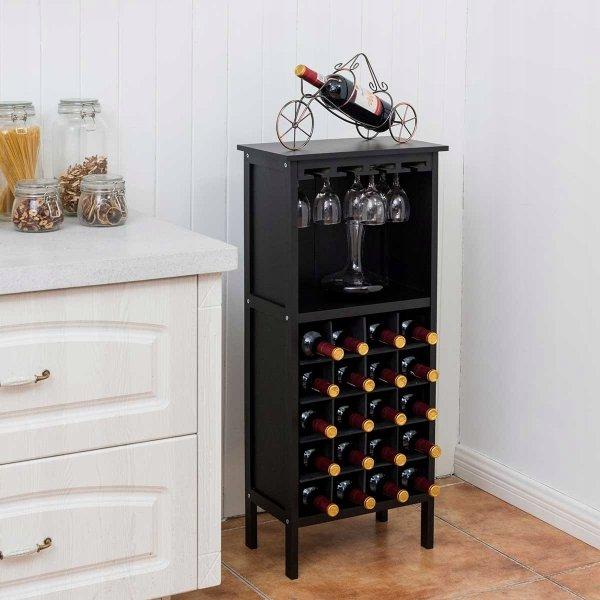 Szafka na wino i kieliszki na 20 butelek