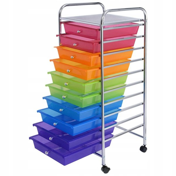 Szafka organizer z szufladami na kółkach