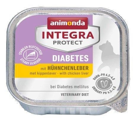 Animonda Integra Protect Diabetes dla kota - z wątróbką kurczaka tacka 100g
