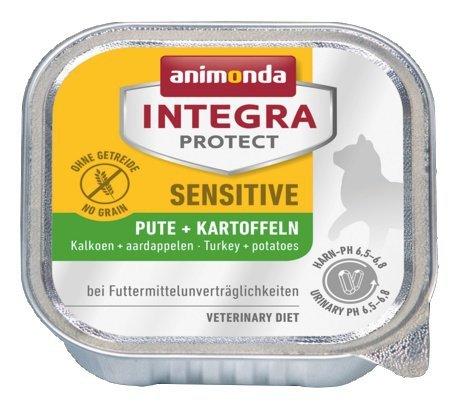 Animonda Integra Protect Sensitive dla kota - z indykiem i ziemniakami tacka 100g