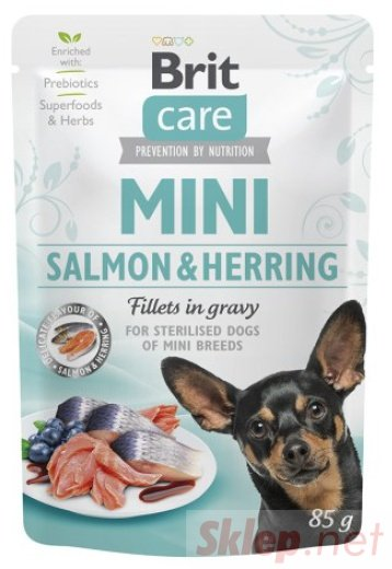 Brit Care Dog Mini Salmon & Herring Sterilised saszetka 85g