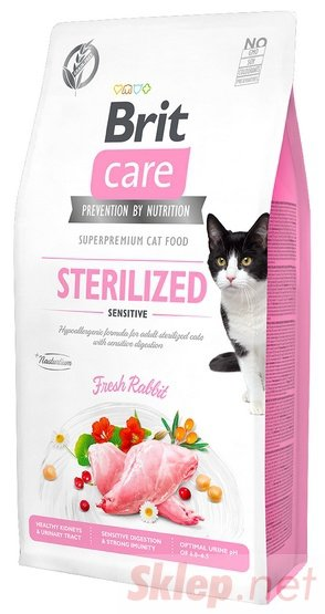 Brit Care Cat Grain Free Sterilized Sensitive 400g