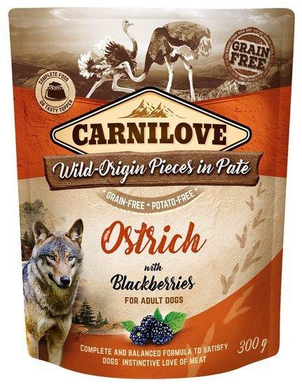 Carnilove Dog Ostrich & Blackberries - struś i jeżyny saszetka 300g