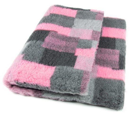 DryBed Posłanie Patchwork 100x75cm A+ róż-szary