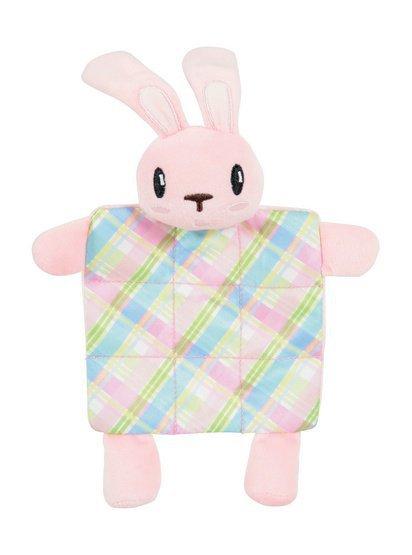 Zolux Zabawka pluszowa dla szczeniąt królik pled z dźwiękiem różowy [480121ROS]