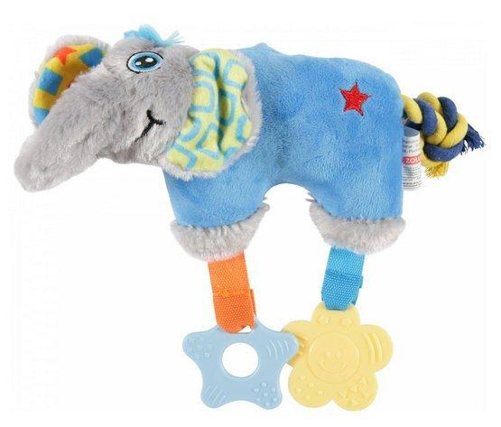 Zolux Zabawka pluszowa dla szczeniąt słoń niebieski [480080BLE]