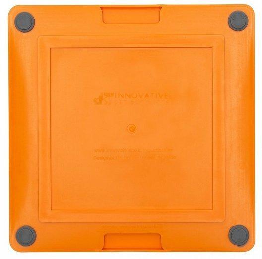 LickiMat Playdate Deluxe/Tuff Kwadrat twardy pomarańczowy