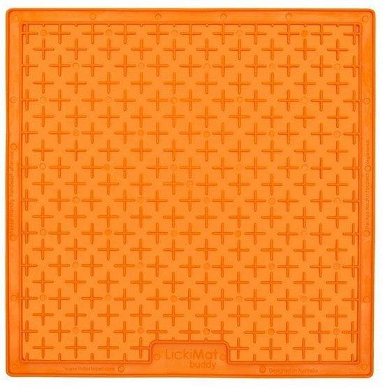 LickiMat Buddy Large Krzyżyk miękki pomarańczowy