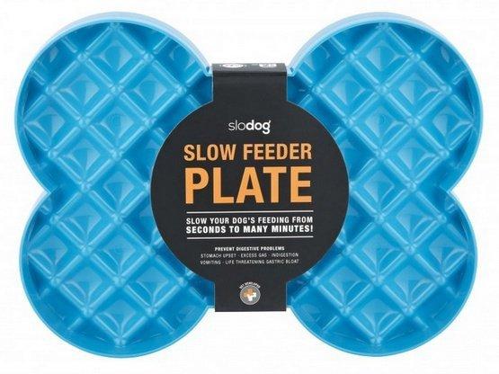 SloDog Slow Feeder Plate Miska duża kość turkusowa