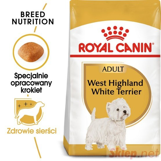 Royal Canin West Highland White Terrier Adult karma sucha dla psów dorosłych rasy west highland white terrier 0,5kg