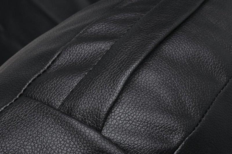 Fotel BUBBLE STAND 2 poduszka czarna - akryl, chrom, ekoskóra