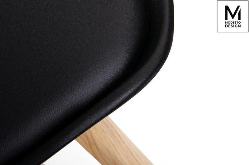 MODESTO krzesło NORDIC czarne - podstawa bukowa