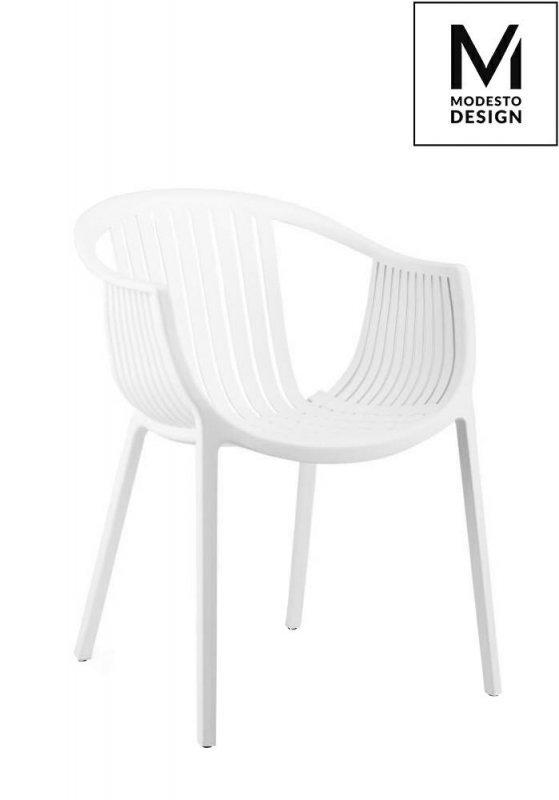 MODESTO krzesło SOHO białe - polipropylen