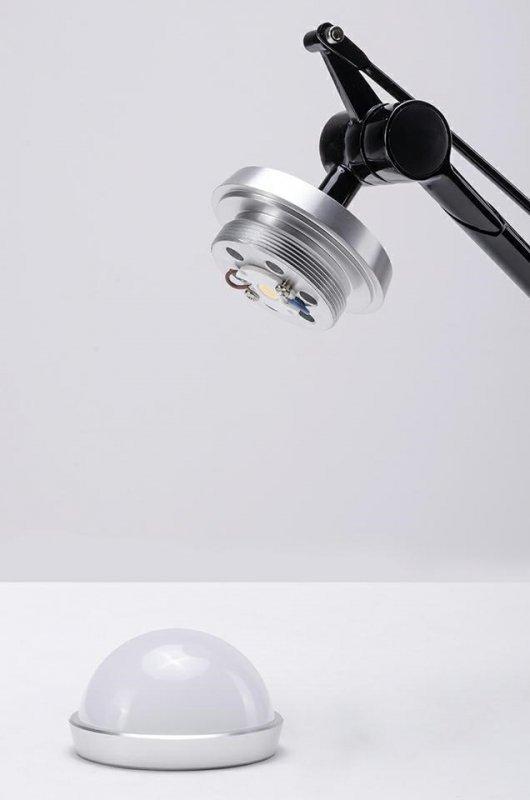 Kinkiet RAYON ARM WALL czarny - LED, klosz z tkaniny