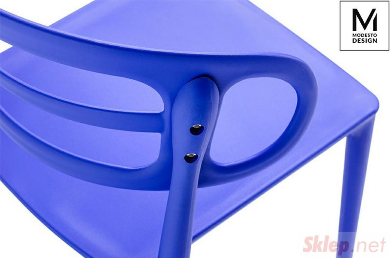 MODESTO krzesło MARCUS ciemnoniebieskie - polipropylen