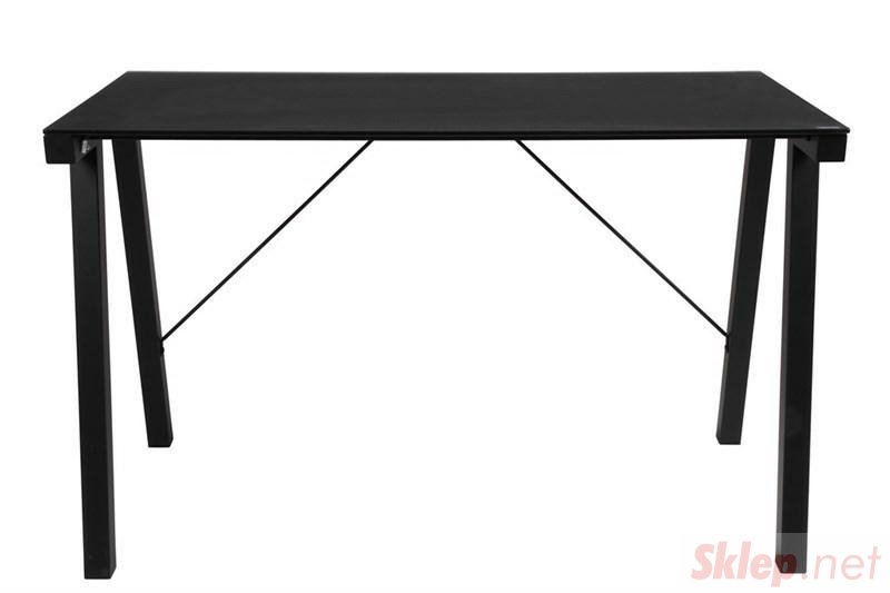 ACTONA biurko TYPHOON czarny - blat szklany, metal