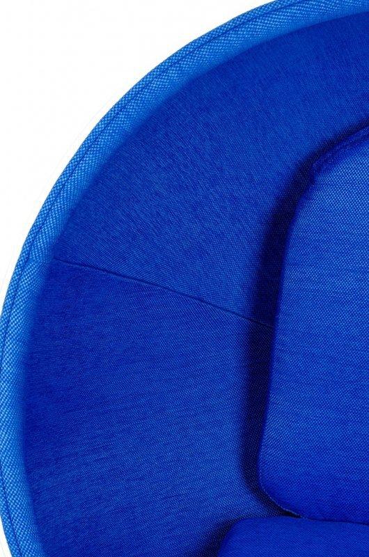 Fotel BALL biało-niebieski - włókno szklane, wełna