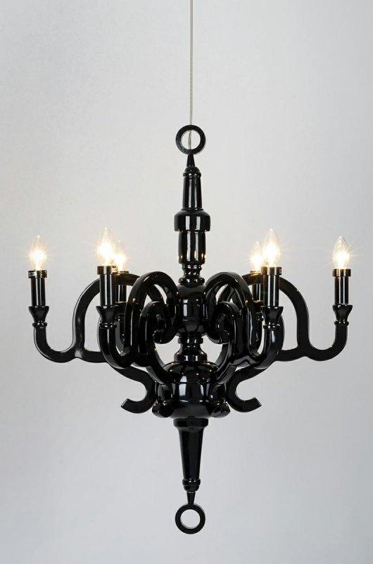 Lampa wisząca PAPYRUS 70 czarna - żywica syntetyczna