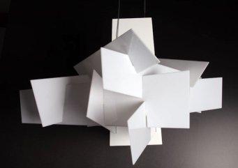 Lampa wisząca BANG BANG 91 biała - akryl, aluminium, stal