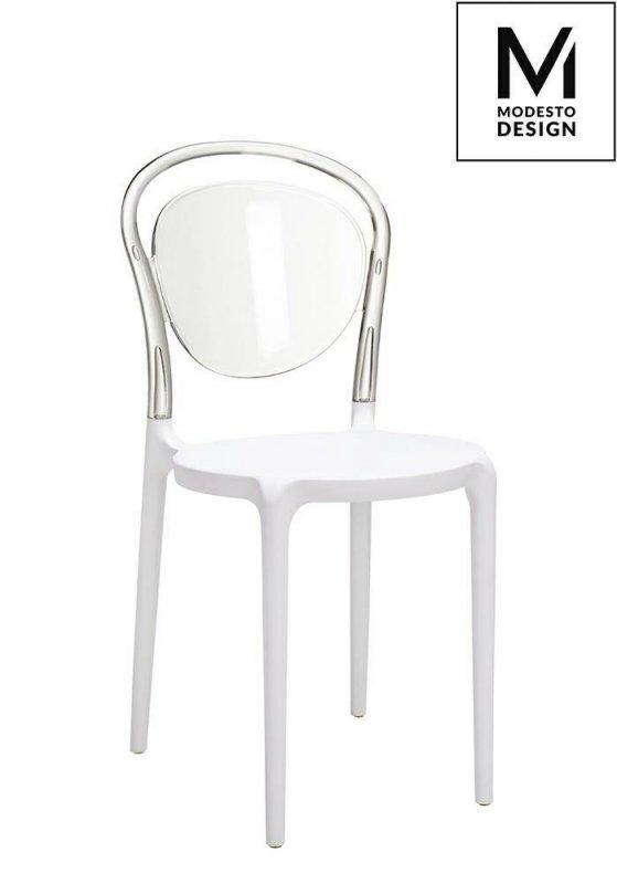 MODESTO krzesło CARMEN 2 transparentne - oparcie poliwęglan