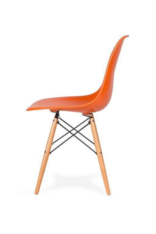 Krzesło DSW WOOD sycylijski pomarańcz .08 - podstawa drewniana bukowa